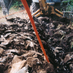 Fiber cable placement in the rocky Upper Peninsula. Circa 2005.